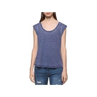 Calvin Klein Jeans Womens Tank Top Faded Cuffed - L