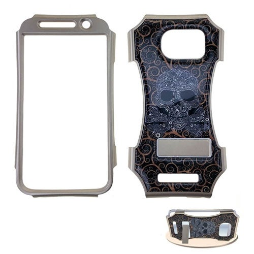 Kicker Snap-On Protector Case for Samsung Galaxy S6 (Crystal Design/Skull)
