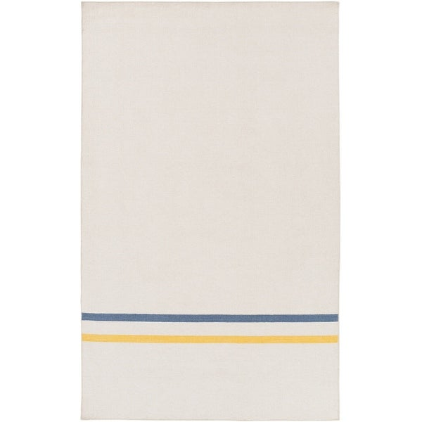 Hand-Woven Sudbury Stripe Indoor Wool Area Rug