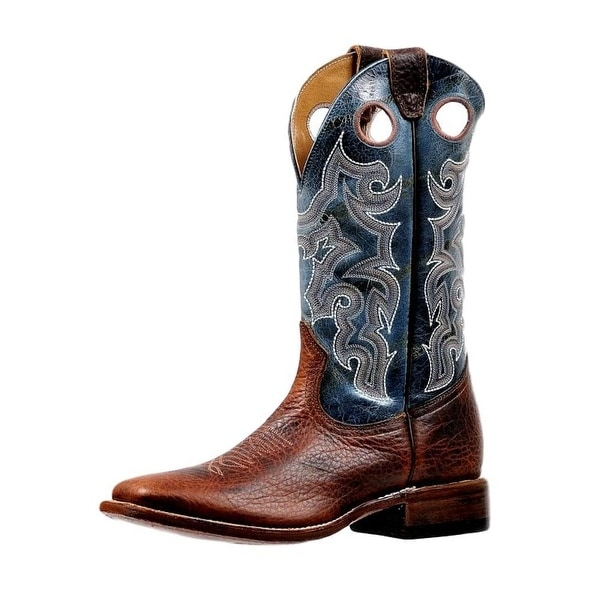 Boulet Western Boots Men Stitching Pull Hole Bisonte Utta Whiskey