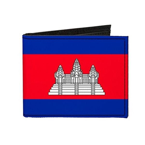 Buckle-Down Canvas Bi-fold Wallet - Cambodia Flag Accessory