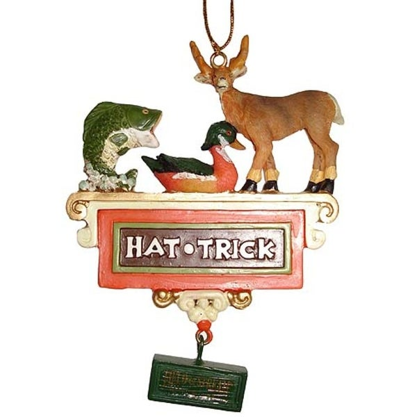 "Field & Stream Wildlife ""Hat Trick"" Christmas Ornament #FS0131"