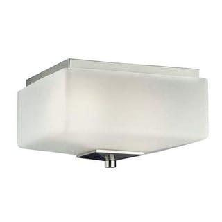 "Forecast Lighting F602536NV 2 Light 11"" Wide Flush Mount Ceiling Fixture from the Radius Collection - Satin Nickel"