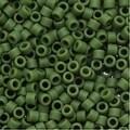 Miyuki Delica Seed Beads 11/0 'Matte Opaque Avocado' Green DB1585 7.2 GR - Thumbnail 0