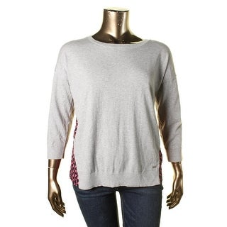 Tommy Hilfiger Womens Printed Crew Neck Pullover Sweater
