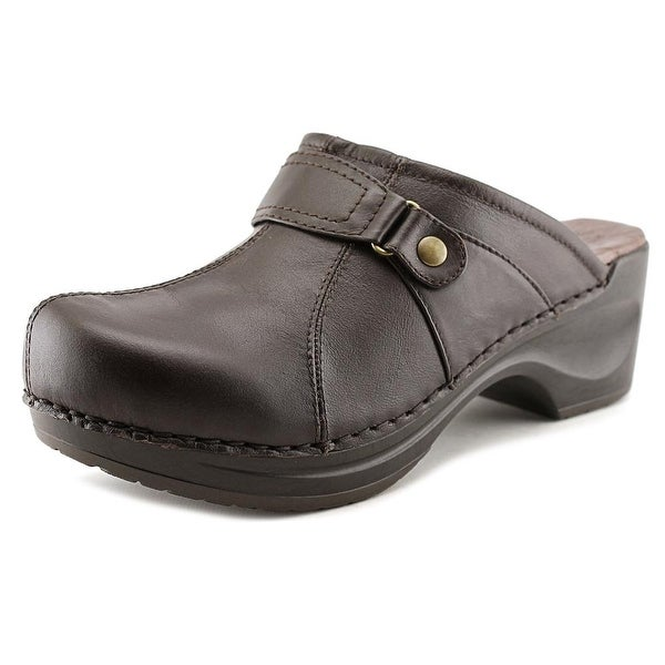 Sanita Daisy-Diedre Women Round Toe Leather Brown Mules