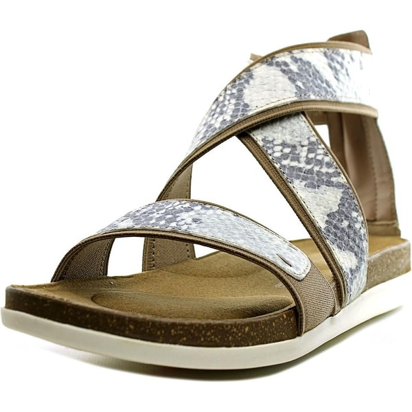 Rockport Romilly Gore Zip Sandal Women Canvas Multi Color Gladiator Sandal