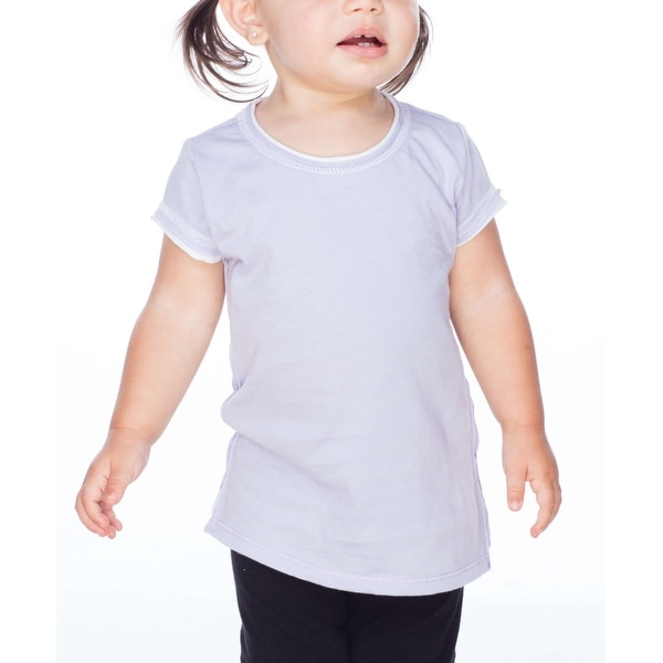 Kavio! Infants Contrast Rolling Raw Edge Short Sleeve