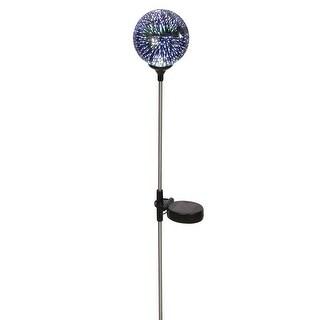 """LED Lighted Stargazing Garden Stake - Solar Powered Mercury Glass Globe - 24"""" - 24 in."""