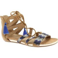 Kenneth Cole Reaction Women's Lost Look Lace Up Sandal Almond Polyurethane
