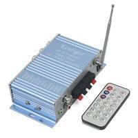 Unique Bargains Blue 2-CH 40W Power Digital Display HiFi Stereo Amplifier for Car MP3 FM Audio