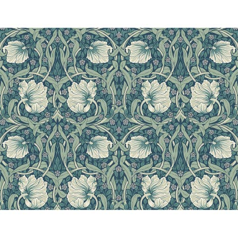 NextWall Pimpernel Floral Peel and Stick Wallpaper