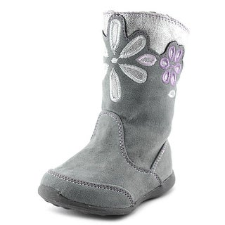 Stride Rite Lilianna Infant Round Toe Synthetic Gray Knee High Boot