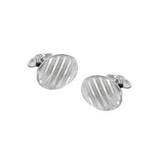 Dolan Bullock Men's Pinstripe Cufflinks in Sterling Silver