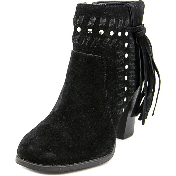 INC International Concepts Jade Women Round Toe Suede Bootie