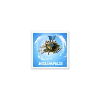 Indianapolis - City Planets - 12x12 Matte Poster Print Wall Art