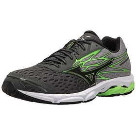 Mizuno Men's Wave Catalyst 2 Running Shoe, Charcoal/Green Flash, 10 D US