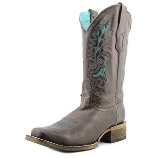 Corral A3102 Women Square Toe Leather Brown Western Boot