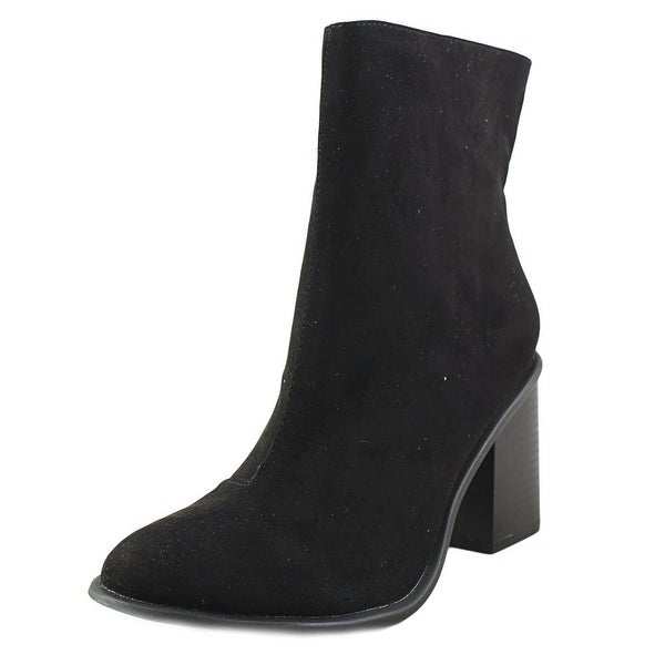 Restricted Teaser Women Round Toe Synthetic Black Ankle Boot