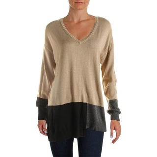 Vince Camuto Womens Pullover Sweater Modal Blend Colorblock