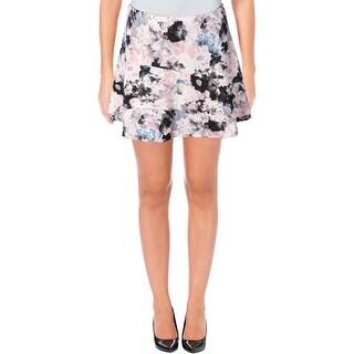 Aqua Womens Tiered Skirt Matte Jersey Printed