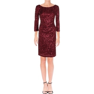 Jessica Howard Womens Cocktail Dress Sequinned Above Knee
