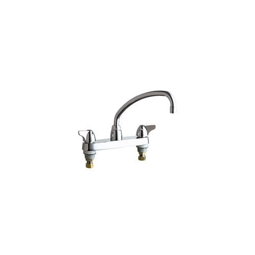 Chicago Faucets 1100 L9e35ab Commercial Grade Low Arch Kitchen Faucet With Wing Handles 8 Faucet Centers Eco Friendly Flow