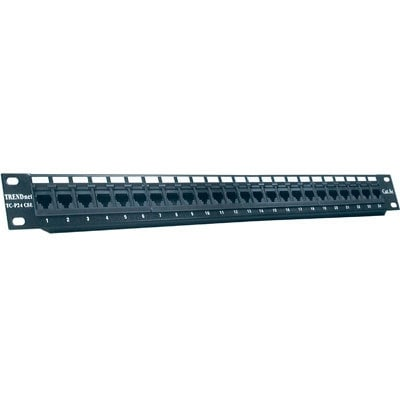Trendnet 24-Port Cat5/5E Rj-45 Utp Unshielded Wallmount Or Rackmount Patch Panel, Certified 100Mhz Cat 5E, Krone Connect