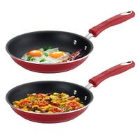 Guy Fieri Non-Stick Red Aluminum 10 Inch Frying Pan, 2 Pack