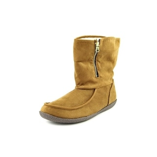 Hush Puppies BitterRoot Women Round Toe Synthetic Tan Winter Boot