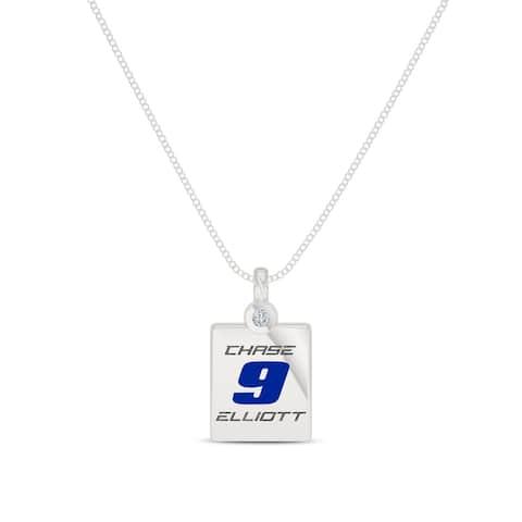 Chase Elliott Sterling Silver Diamond Pendant Necklace