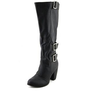 Michael Antonio Mandrick Women  Round Toe Synthetic Black Knee High Boot