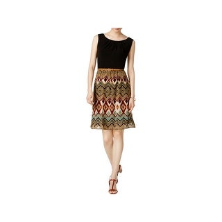 Connected Apparel Womens Casual Dress Daytime Knee-Length