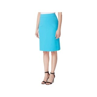 Tahari ASL Womens Petites Pencil Skirt Crepe Knee-Length