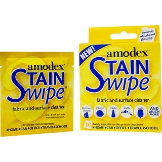 Amodex Stain Swipe Surface Cleaner Towelettes 10/Pkg-