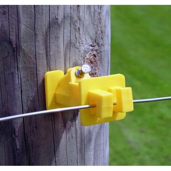 Zareba IWNY-Z Slant Nail Insulator, Yellow