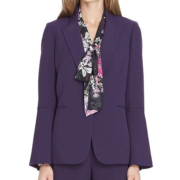 Tahari by ASL Purple Notched-Collar Women's Size 10 Blazer Jacket