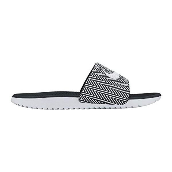 Nike Womens Kawa Slide Print Sandal Black/White 8