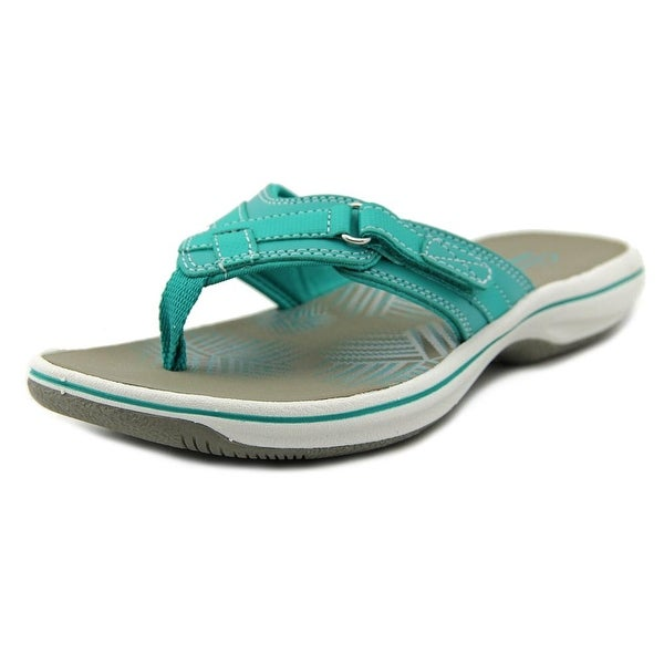 Clarks Narrative Breeze Sea Women Open Toe Synthetic Blue Thong Sandal
