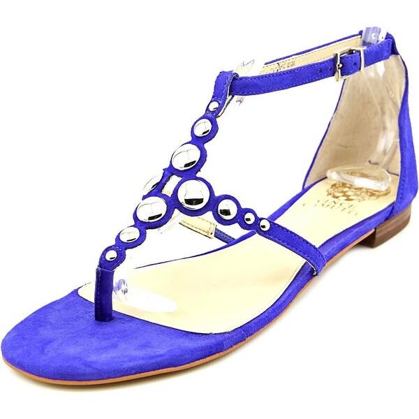 Vince Camuto Valia Women Open Toe Suede Blue Thong Sandal