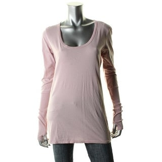 Alternative Apparel Womens Cotton Ribbed Trim Pullover Top