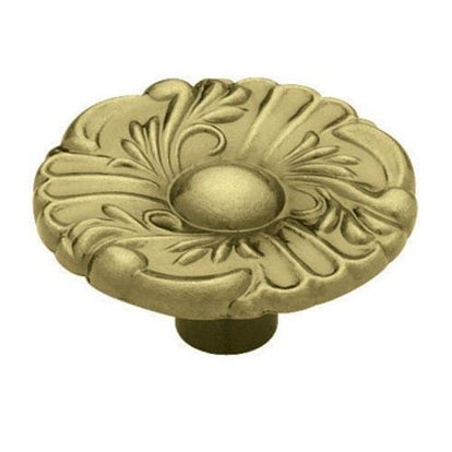 "Liberty Hardware P74580L-AB-U Round Provincial Cabinet Knob 1-1/2"", Antique Brass"