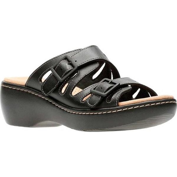 153890cf722 Shop Clarks Women s Delana Liri Slide Black Full Grain Leather - On ...