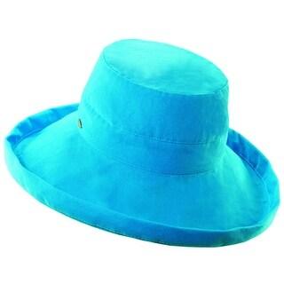 Scala Women's Cotton 4 Inch Brim UPF 50+ Travel Sun Hat - One size