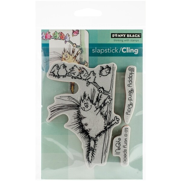 "Penny Black Cling Stamp 5""X7""-Bird-Day"