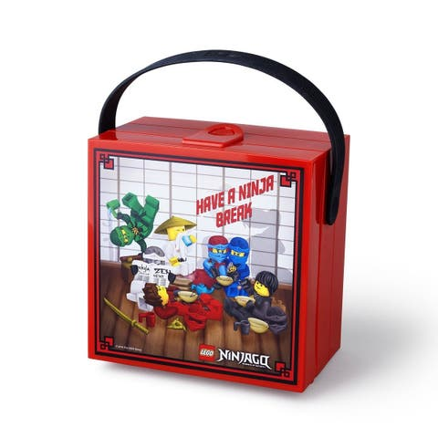 LEGO Ninjago Lunchbox with Handle, Bright Red - Multi