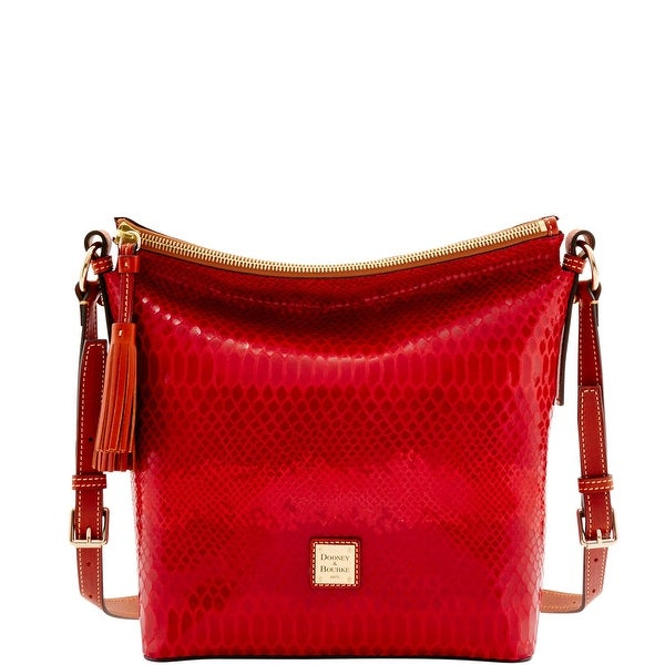 Dooney & Bourke Snake Small Dixon (Introduced by Dooney & Bourke at $268 in Nov 2016) - Red