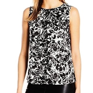 Nine West NEW Black White Women's Size Small S Embellished Tank Blouse