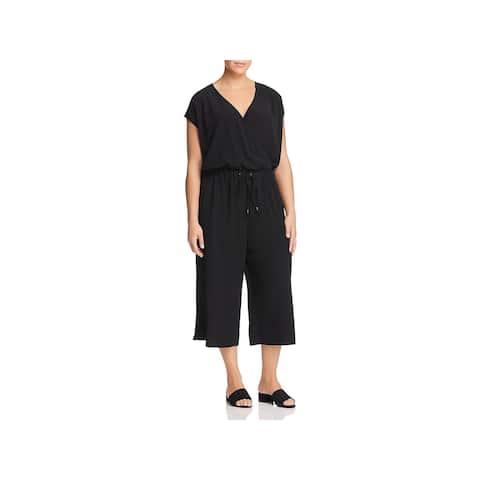 Eileen Fisher Womens Plus Jumpsuit Wide-Leg Cropped