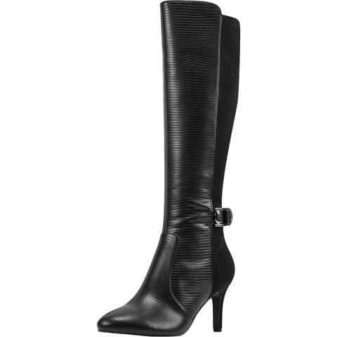 Bandolino Womens Delfie Over-The-Knee Boots Suede Tall - Black Multi - 11 Medium (B,M)